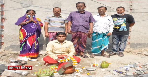 গোয়ালপাড়া শ্রীশ্রী দুর্গা মন্দিরে পুনর্নির্মাণ কাজের উদ্বোধন